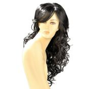 Dareen Black Wavy Long Wig
